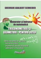 Memorator si indrumar de matematica trigonometrie si geometrie pentru liceu
